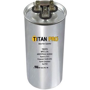 Picture of TITAN PRO Run Capacitor 45+5 MFD 440/370 Volt Round TRCFD455